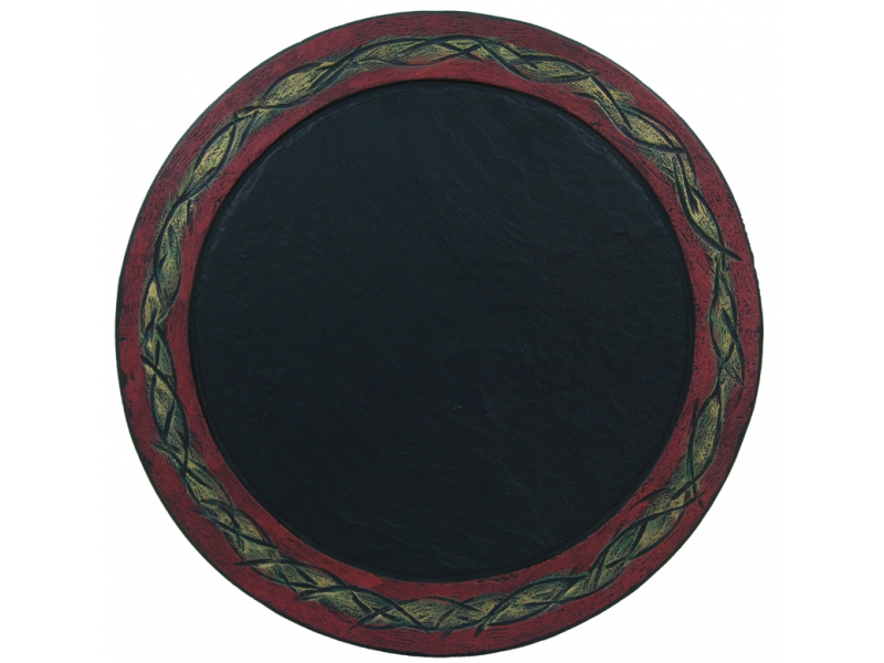 ornate-plate-red-rim-with-green-medium-1