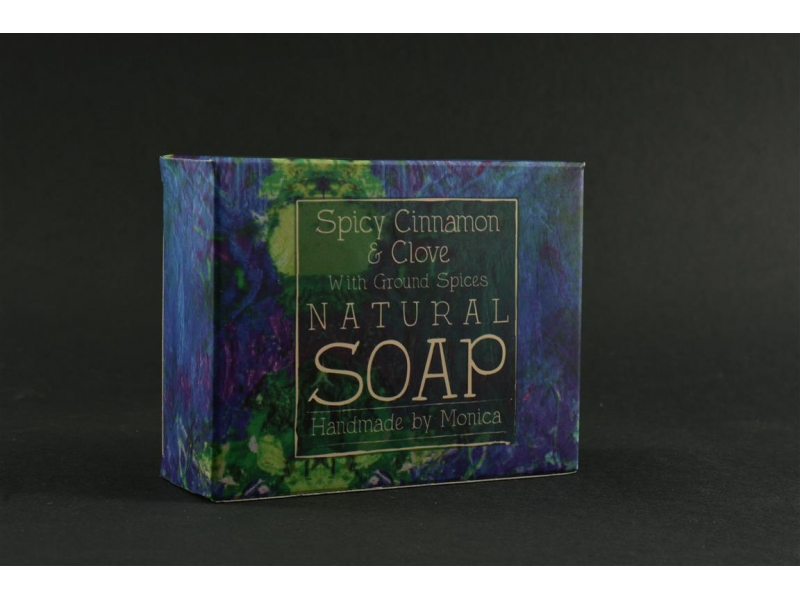 Palm Free Natural Soap Spicy Cinnamon and Clove.