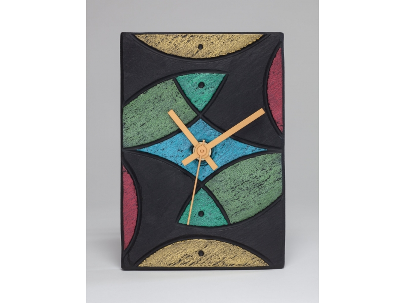 Slate clock with fish theme