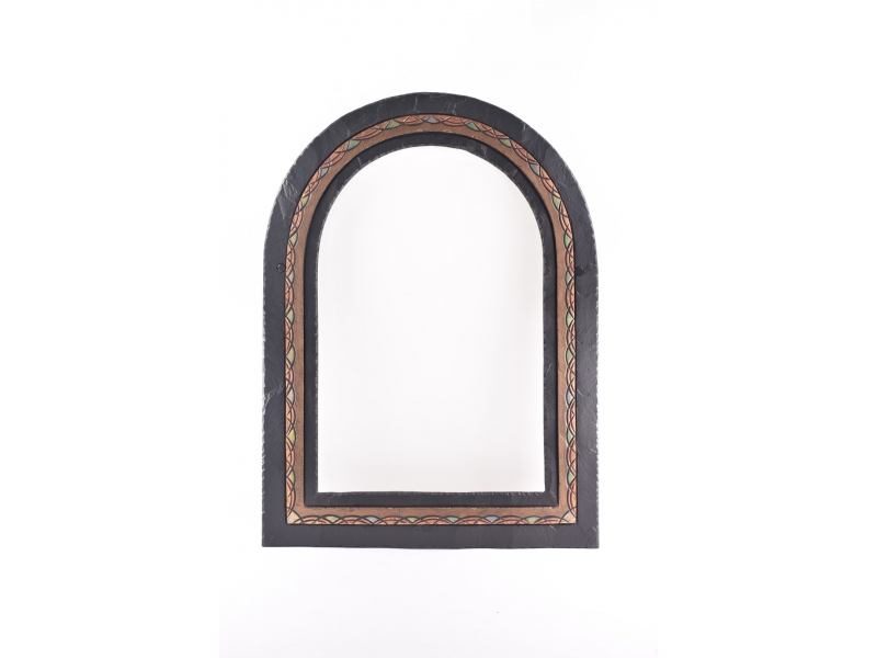 romanesque slate mirror