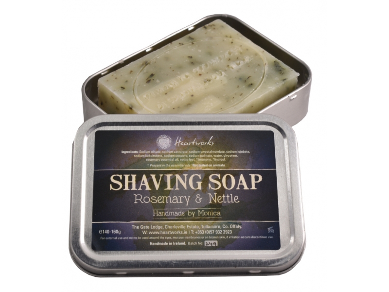 Shaving soap nettle and rosemary