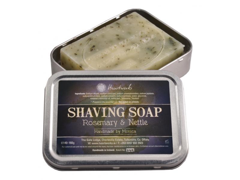 Shaving soap nettle and rosemary