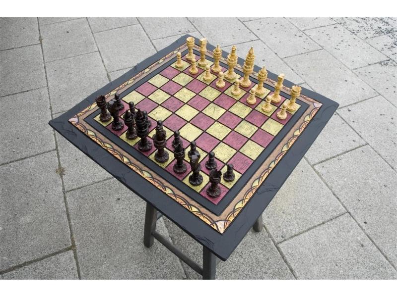 slate chess board handmade.