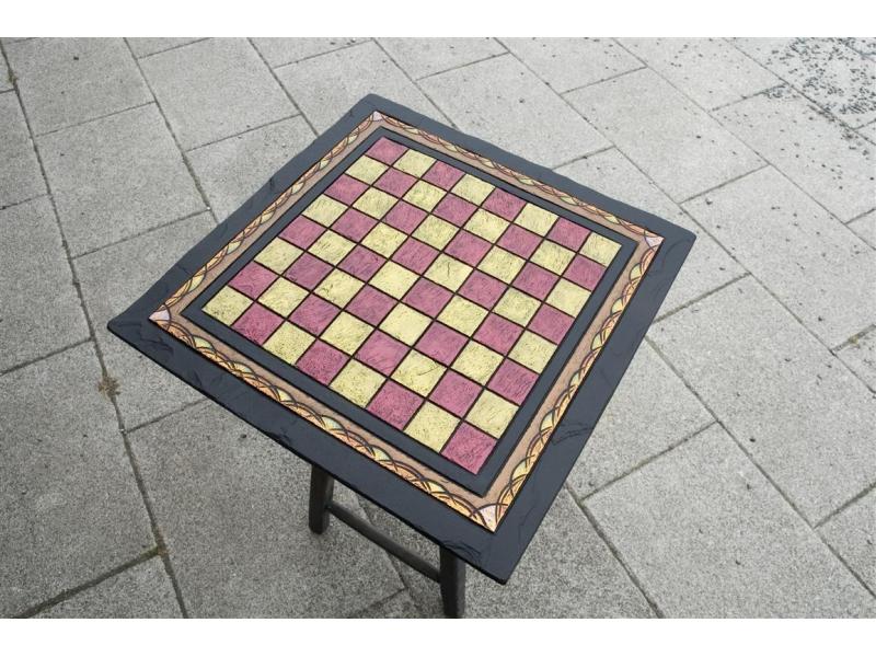 Ornate Slate Chess Board
