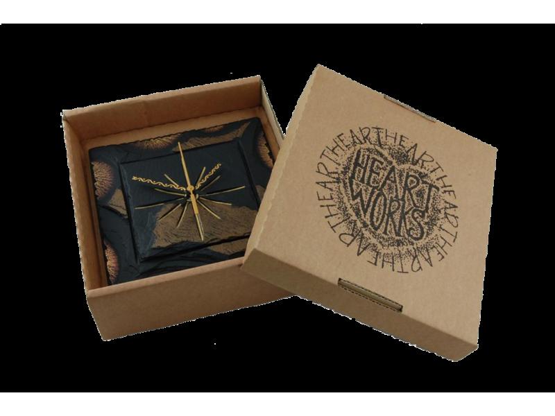 square clock in a box