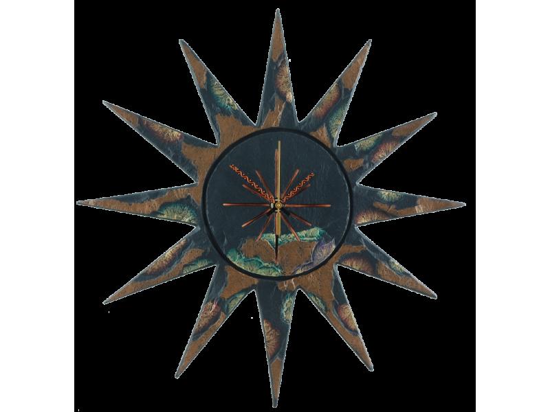 Slate Sun Shaped Clock