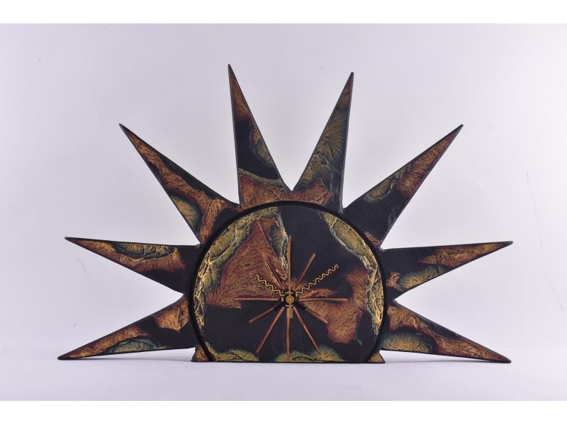 Sun slate clock free standing