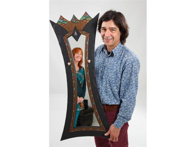 Unique Slate Mirror