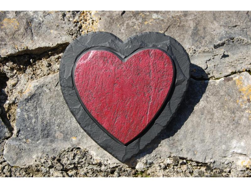Valentine's heart in slate